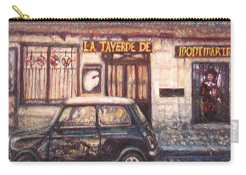 Quin Sweetman Carry-all Pouch featuring the painting Mini De Montmartre by Quin Sweetman