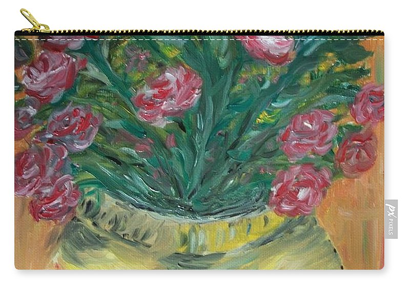 Roses Carry-all Pouch featuring the painting Mini Roses by Teresa White