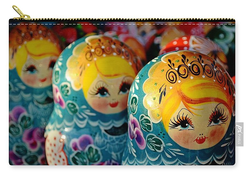 Russia Carry-all Pouch featuring the photograph Mini Sarafans by JAMART Photography