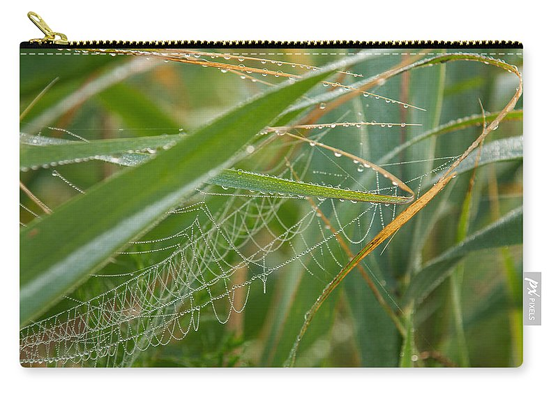Dewdrops Carry-all Pouch featuring the photograph Miniature Pearl Strings by Georgia Mizuleva