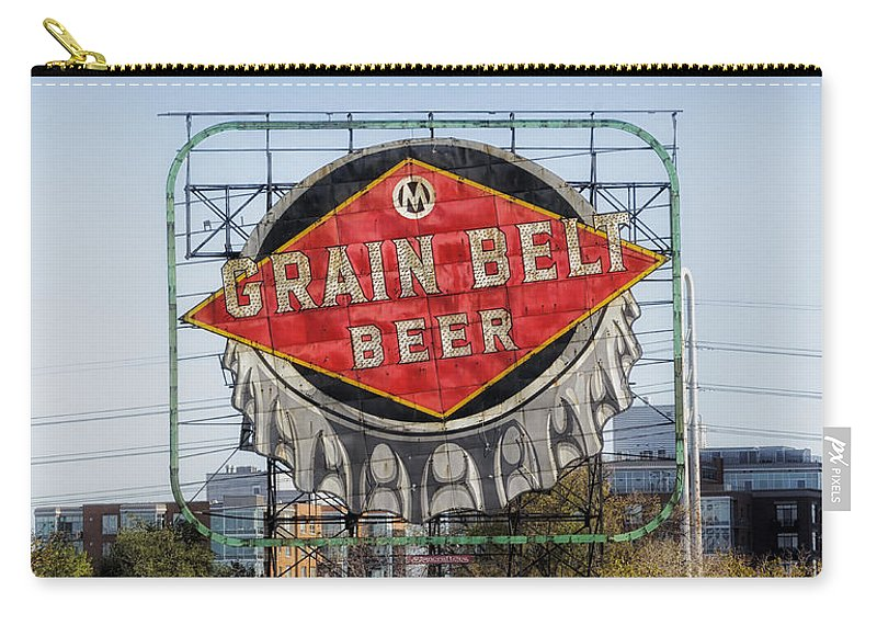 Grain Belt Beer Carry-all Pouch featuring the photograph Minneapolis Brew by Mountain Dreams