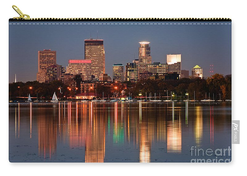 Minneapolis Skyline Carry-all Pouch featuring the photograph Minneapolis by Joe Mamer