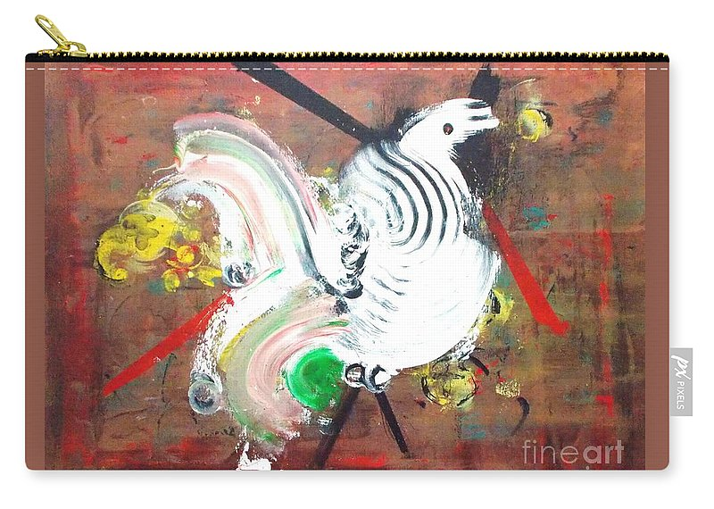 Original Carry-all Pouch featuring the painting Minority Species by Roberto Prusso