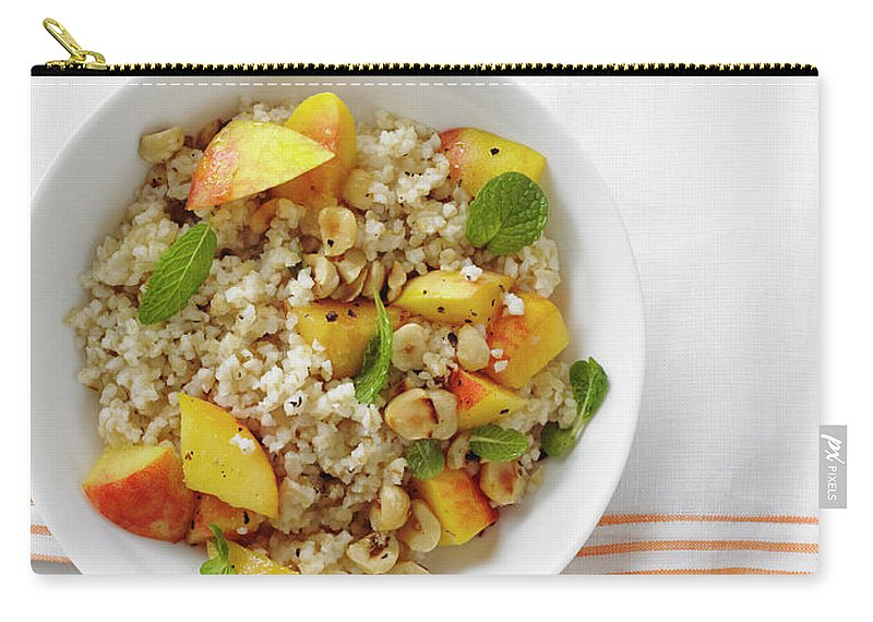 Temptation Carry-all Pouch featuring the photograph Minted Bulgur And Peach Salad by Iain Bagwell