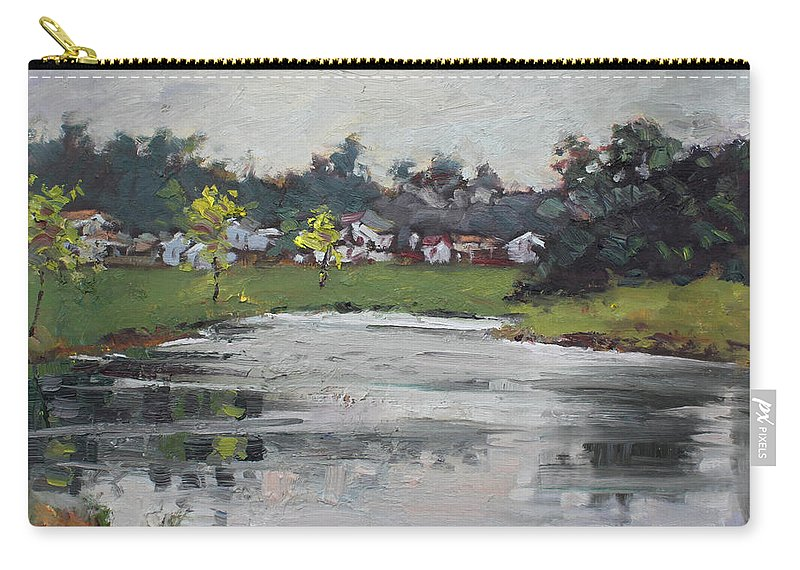 Rainy Day Carry-all Pouch featuring the painting Minutes Before Raining by Ylli Haruni
