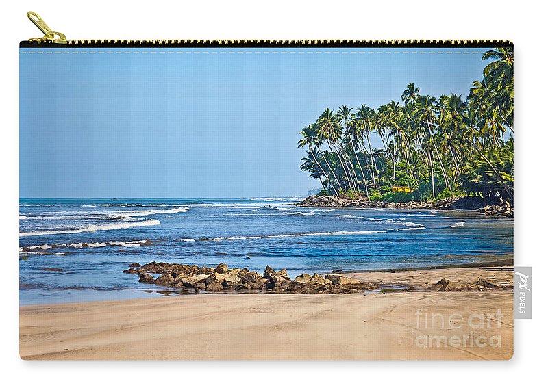 Mirissa Carry-all Pouch featuring the photograph Mirissa Beach Sri Lanka by Liz Leyden