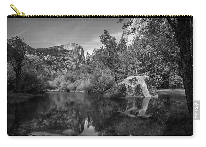 Yosemite Carry-all Pouch featuring the photograph Mirror Lake by Kristopher Schoenleber