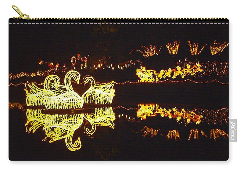 Photographic Print Carry-all Pouch featuring the photograph Mirror Lake Reflections by Marian Bell