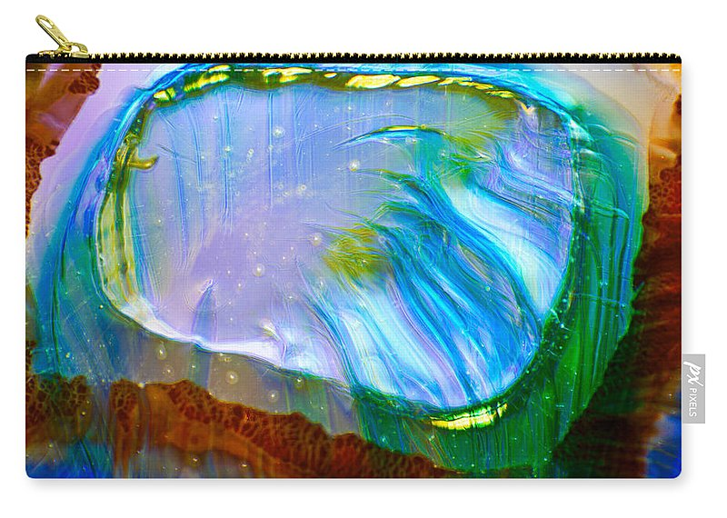 Blue Carry-all Pouch featuring the photograph Mirror Mirror by Omaste Witkowski