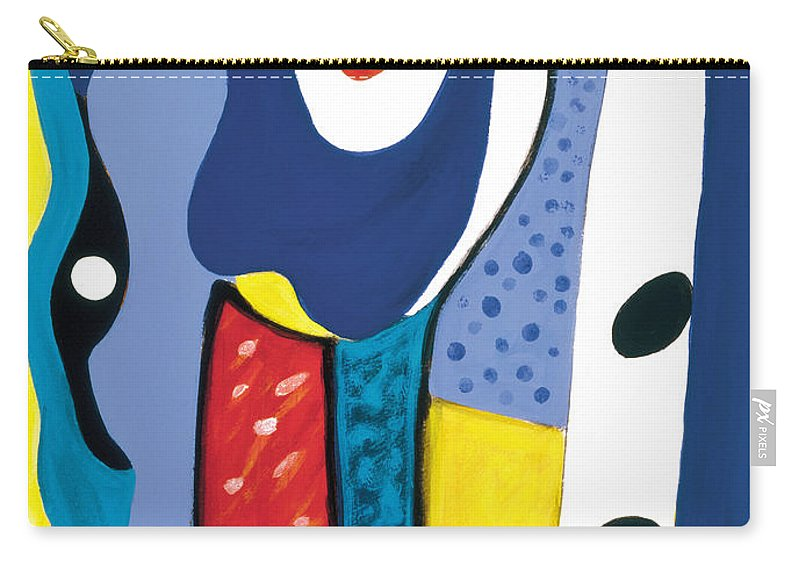 Abstract Art Carry-all Pouch featuring the painting Mirror Of Me 1 by Stephen Lucas