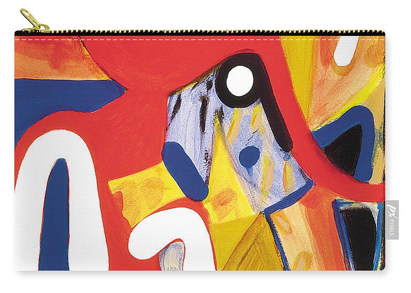 Abstract Art Carry-all Pouch featuring the painting Mirror Of Me 2 by Stephen Lucas