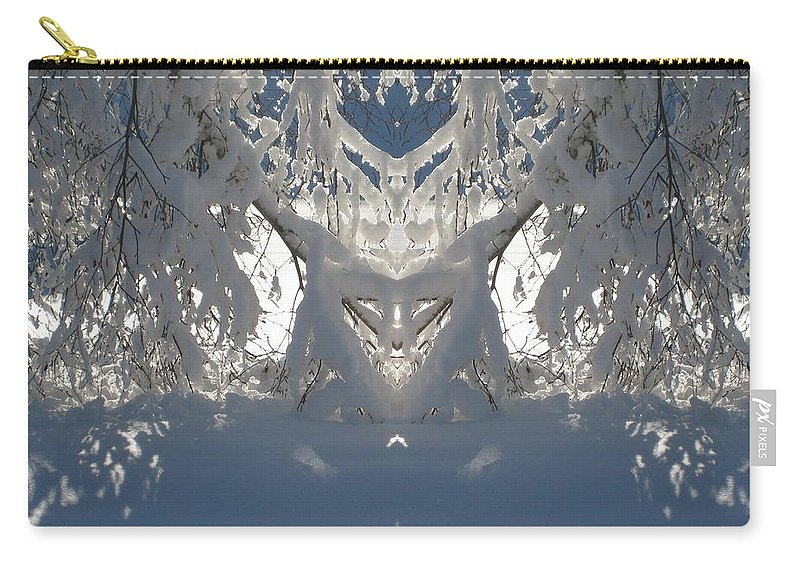 Snow Carry-all Pouch featuring the photograph Mirror Of Snow by Cindy Greenstein