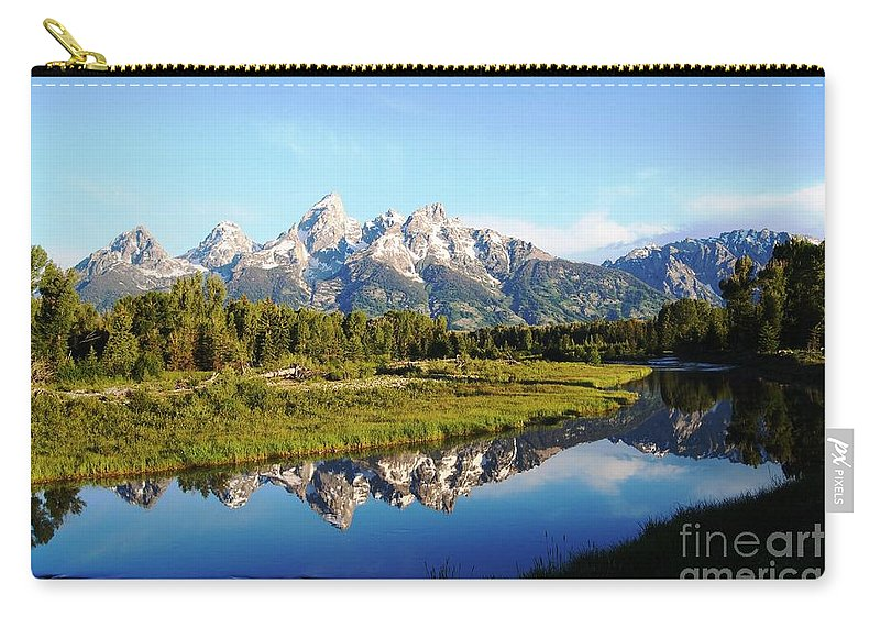 Waterscape Carry-all Pouch featuring the photograph Mirrored Beauty by Deanna Cagle
