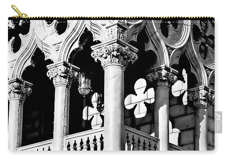 Shadows Carry-all Pouch featuring the photograph Mirrored Shadows by Greg Fortier