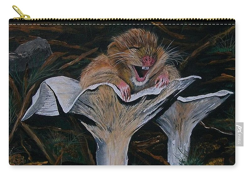 Nature Carry-all Pouch featuring the painting Mischievous Molly by Sharon Duguay