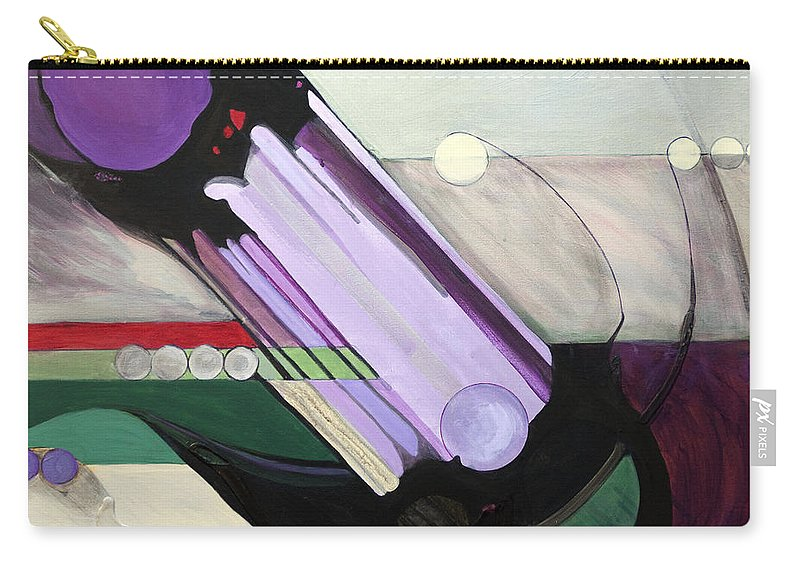 Kavanah Carry-all Pouch featuring the painting Misheberach by Marlene Burns