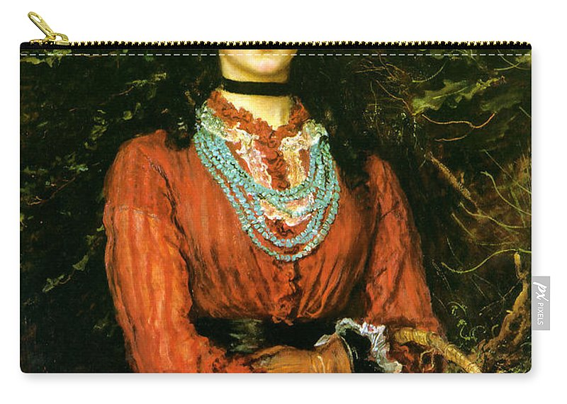 Portrait Carry-all Pouch featuring the painting Miss Eveleen Tennant by Philip Ralley