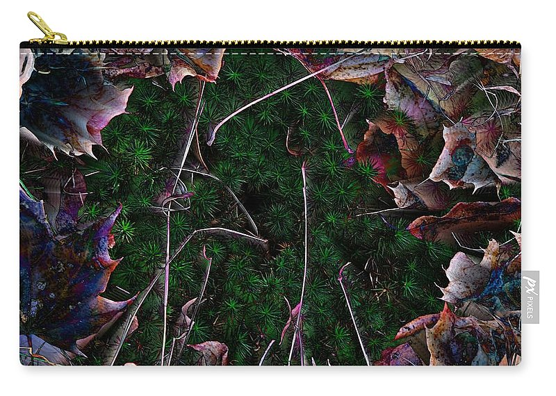 Leaves Carry-all Pouch featuring the photograph Miss Match by Michele Nelson