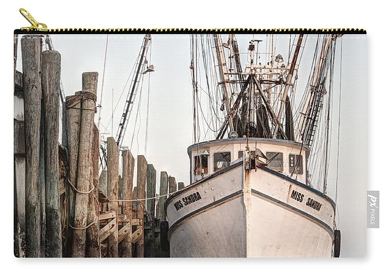 Dock Carry-all Pouch featuring the photograph Miss Sandra - Port Royal by Scott Hansen