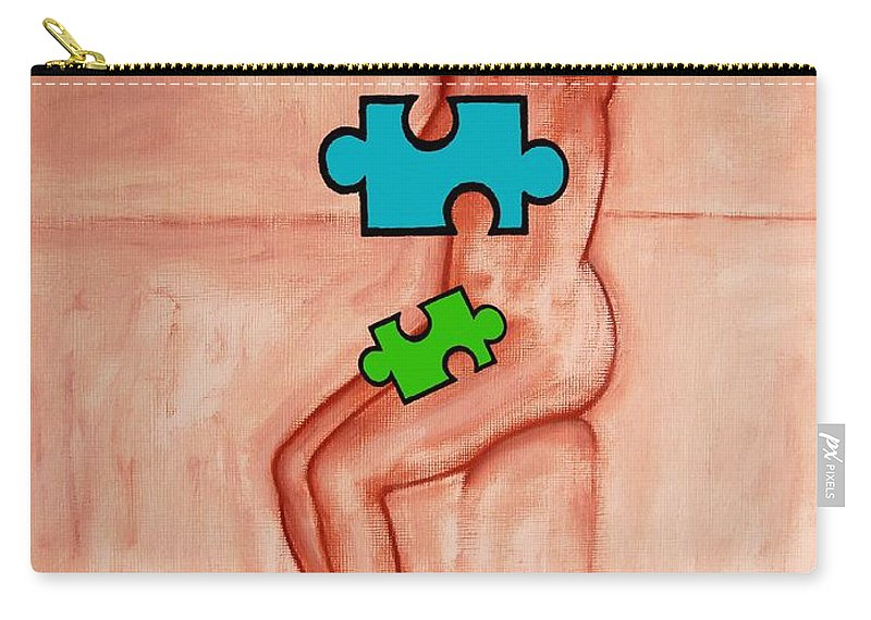 Nude Carry-all Pouch featuring the painting Missing Piece 6 by Patrick J Murphy