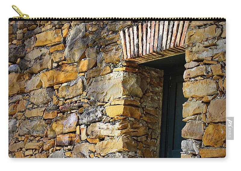 Mission Espada Carry-all Pouch featuring the photograph Mission Espada - Window IIi by Beth Vincent