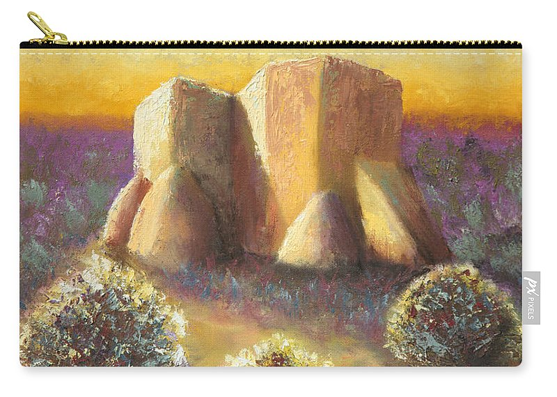 Landscape Carry-all Pouch featuring the painting Mission Imagined by Jerry McElroy