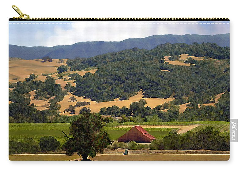 Solvang Carry-all Pouch featuring the photograph Mission Meadows Solvang California by Kurt Van Wagner