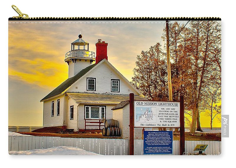 Bay Carry-all Pouch featuring the photograph Mission Point Michigan by Nick Zelinsky