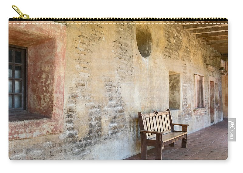 Missions Carry-all Pouch featuring the photograph San Juan Capistrano V by Robert VanDerWal