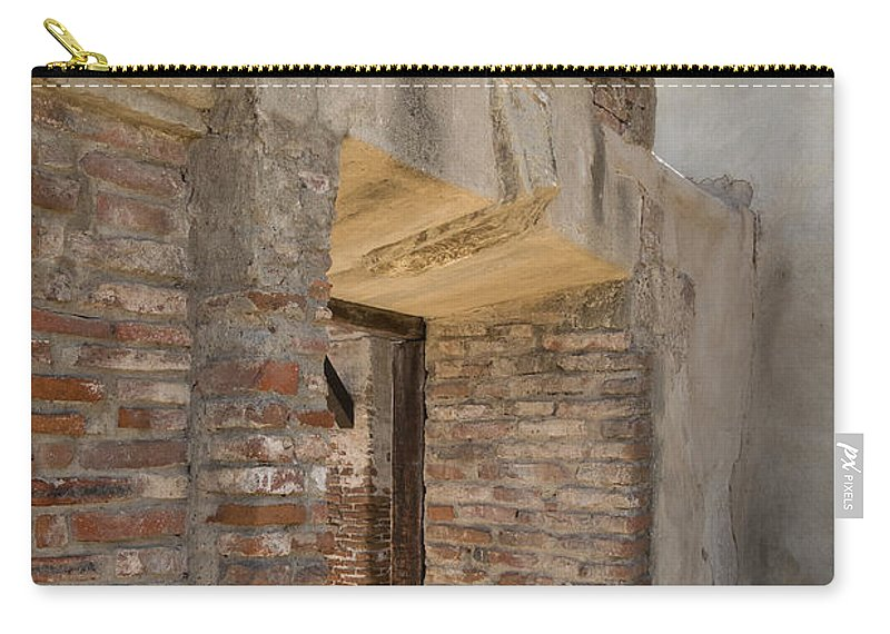 Mission Carry-all Pouch featuring the photograph San Juan Capistrano Vi by Robert VanDerWal
