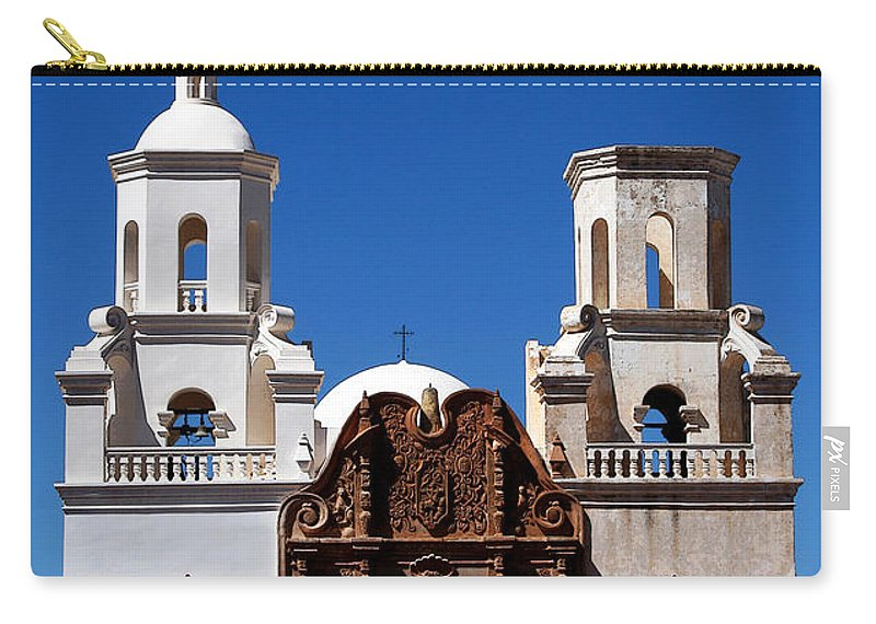Church Carry-all Pouch featuring the photograph Mission San Xavier Del Bac by Joe Kozlowski