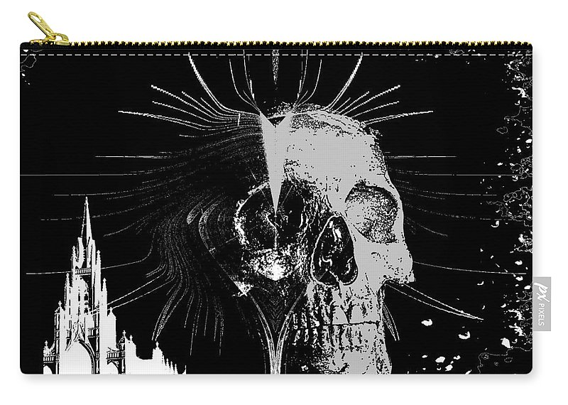 Mist Carry-all Pouch featuring the digital art Mist Of Death by Michael Damiani