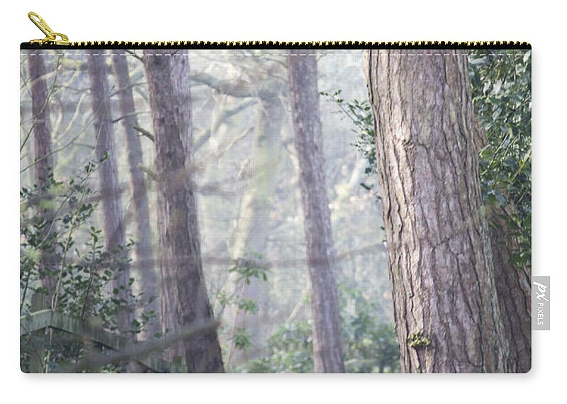Karen Lawrence Carry-all Pouch featuring the photograph Mist Through The Trees by Spikey Mouse Photography