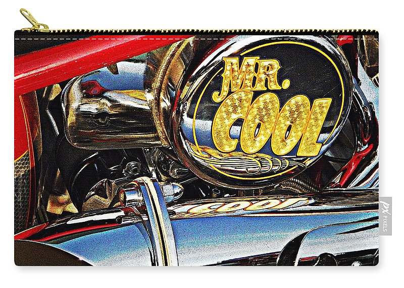 Vehicle Carry-all Pouch featuring the photograph Mister Cool by Chris Berry