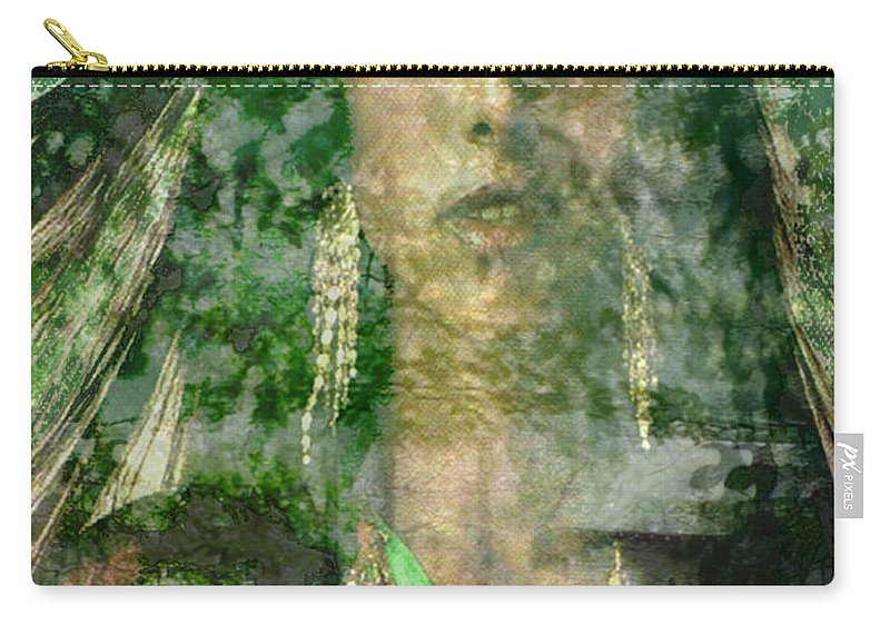 American Indian Carry-all Pouch featuring the digital art Mistress Of The Wind by Seth Weaver