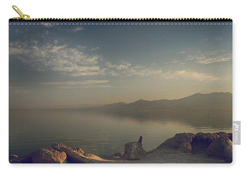Salton Sea Carry-all Pouch featuring the photograph Misty Memories by Laurie Search