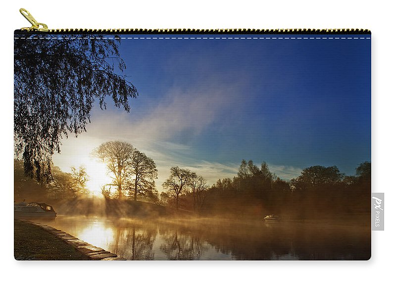 River Carry-all Pouch featuring the photograph Misty Morning by Beverly Cash