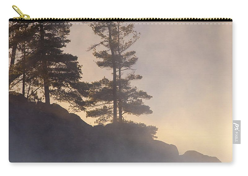 Misty Carry-all Pouch featuring the photograph Misty Point by Richard Kitchen