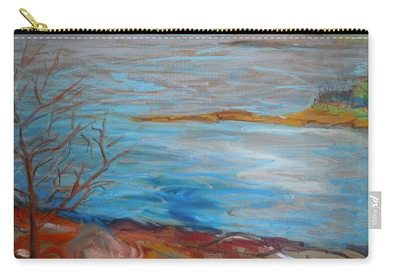 Landscape Carry-all Pouch featuring the painting Misty Surry by Francine Frank