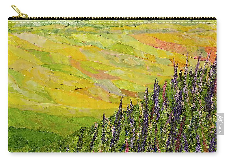 Landscape Carry-all Pouch featuring the painting Misty Valley by Allan P Friedlander