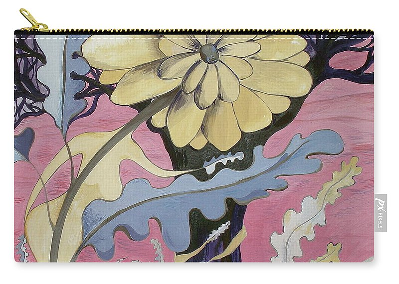Flower.surreal Carry-all Pouch featuring the painting Miz Fleur by Sue Wright