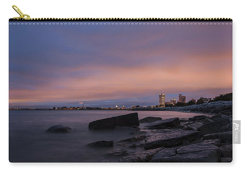 Www.cjschmit.com Carry-all Pouch featuring the photograph Mke 5am by CJ Schmit