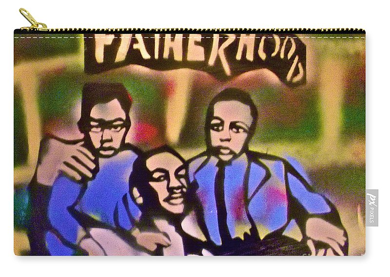 Occupy Carry-all Pouch featuring the painting Mlk Fatherhood 2 by Tony B Conscious