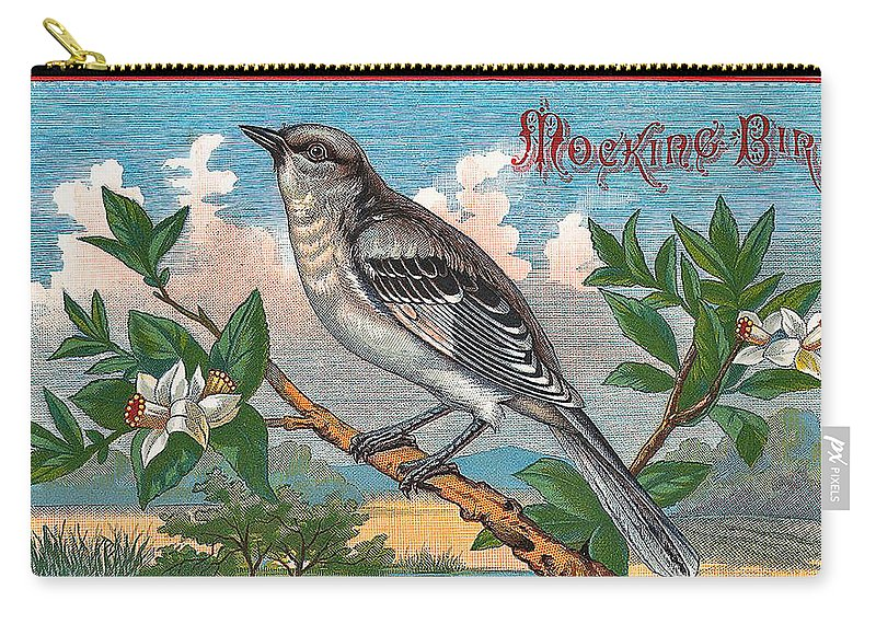 Studio Artist Carry-all Pouch featuring the digital art Mocking Bird by Studio Artist