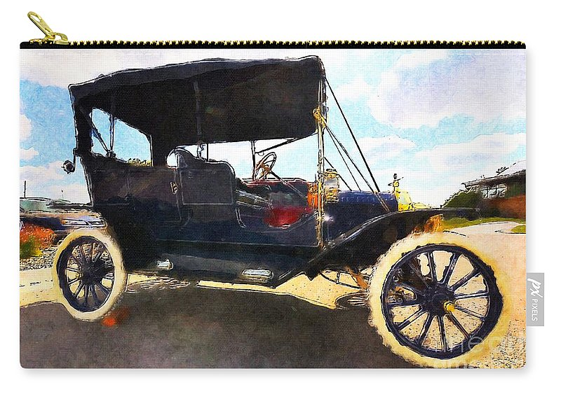 Model T Ford Carry-all Pouch featuring the painting Model T Ford by Liane Wright