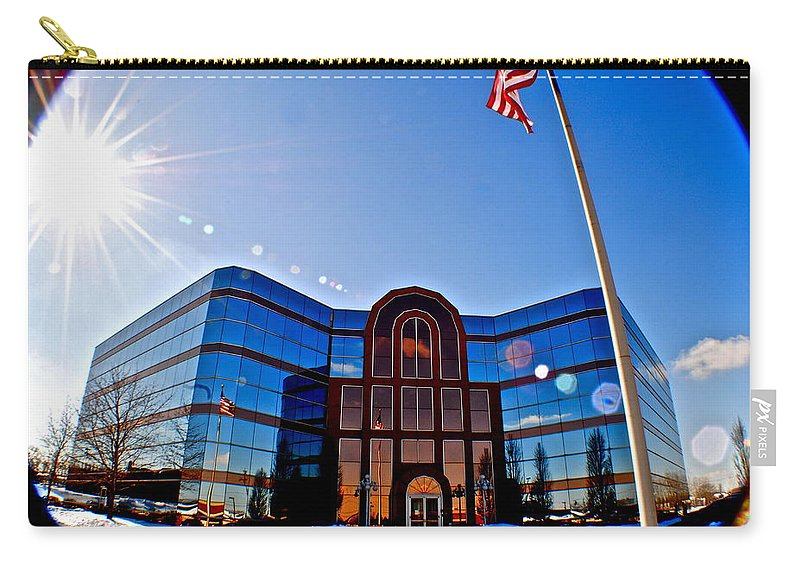 Building Carry-all Pouch featuring the photograph Modern Architecture by Frozen in Time Fine Art Photography