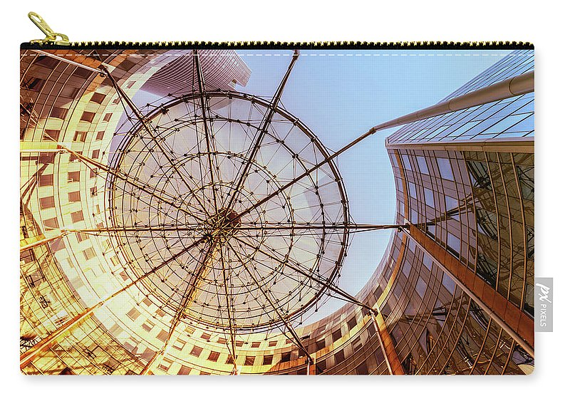 Corporate Business Carry-all Pouch featuring the photograph Modern Architecture With Sun Shade by Warchi
