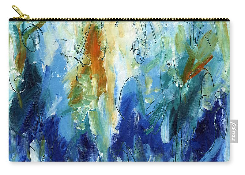 Modern Art Carry-all Pouch featuring the painting Modern Art Thirty-three by Lynne Taetzsch