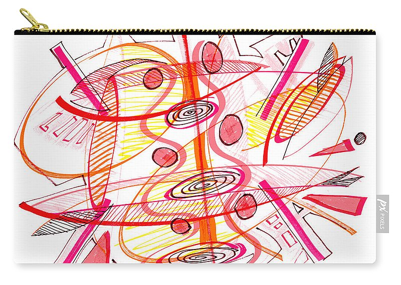 Modern Drawing Carry-all Pouch featuring the drawing Modern Drawing Seventy-four by Lynne Taetzsch