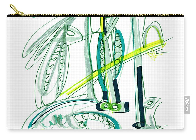 Modern Drawing Carry-all Pouch featuring the drawing Modern Drawing Sixty-four by Lynne Taetzsch